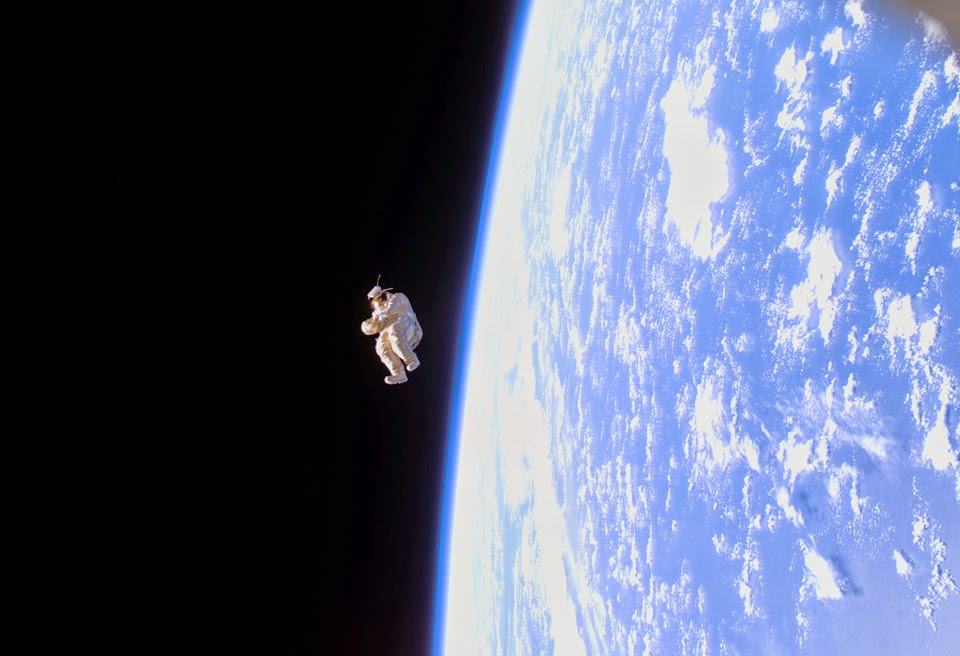 Astronomy Image of the Day: Dummy Astronaut Floats Away From Space Station...