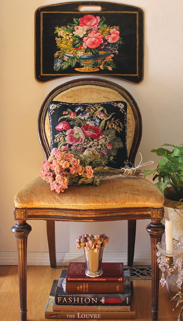http://www.robinkingdesigns.com/item_31/Beautiful-Floral-Writing-Desk-on-Black.htm