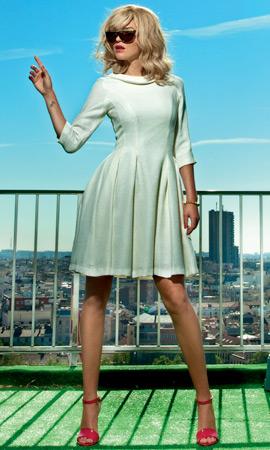 Dolores Promesas vestido blanco primavera verano colección Resort 2013