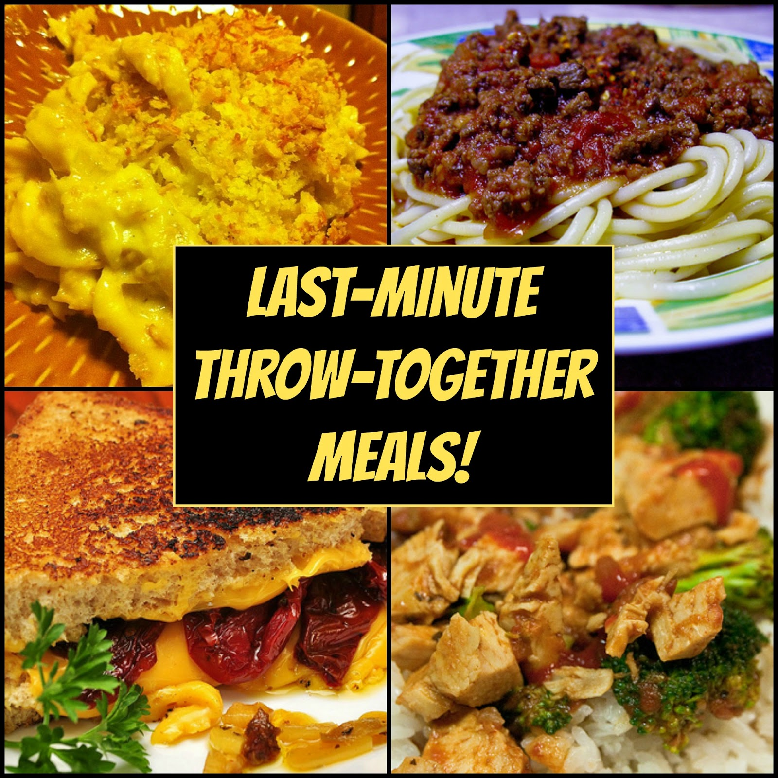 WHO CAN STAND: 4 Last-Minute Throw-Together Meals!
