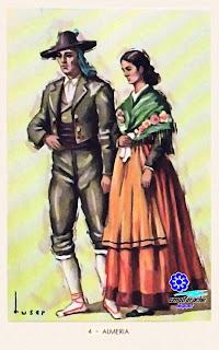 Traje típico de Almería - Editorial Artigas 1940 - Diseño: Tuser