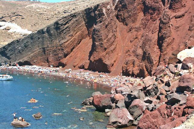 Santorini playa roja, Grecia
