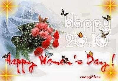 Những hình thiệp đẹp chúc mừng ngày phụ nữ Việt Nam