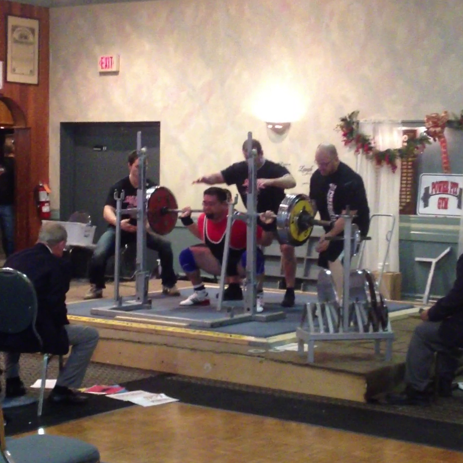 210 kg squat in the hole