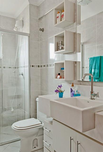 Sua Casa do Seu Jeito Banheiros, lindos, chique, modernos e rústicos -> Banheiro Pequeno E Chique