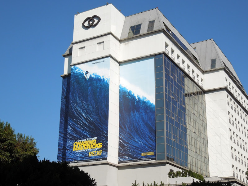 Giant Chasing Mavericks movie billboard