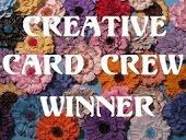 Wygrałam wyzwanie Creative Card Crew