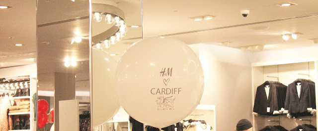 H&M Cardiff launch event giant balloon