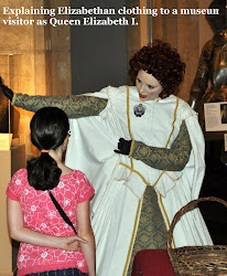 Queen Elizabeth I explains 16th century clothing.