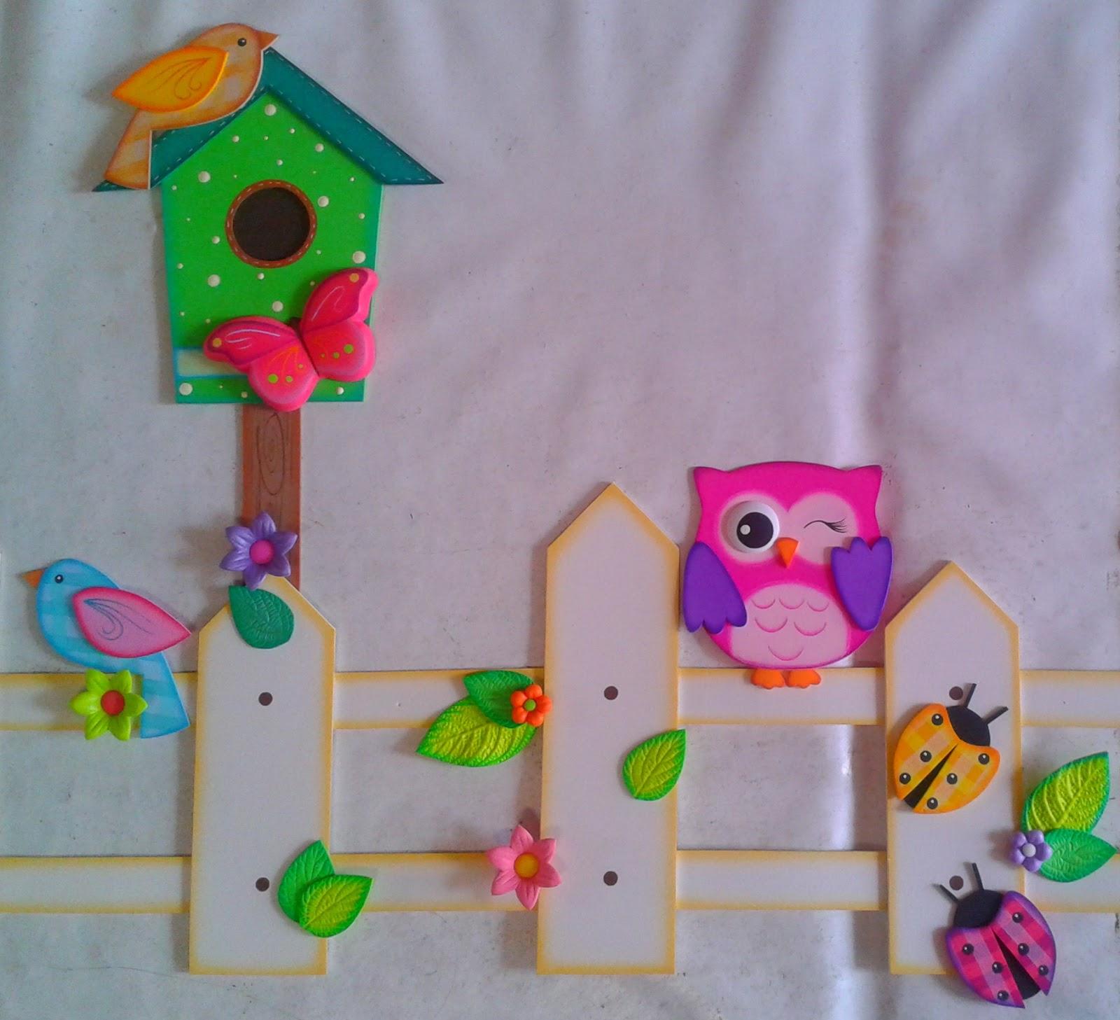 ... Se puede decorar el cuarto de los niños haciendo las veces de cenefa