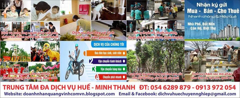 Giới thiệu người giúp việc Huế.DĐ+ZALO+TANGO+SMS:0913972054.Sacombank: 040038580266