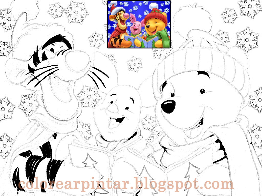 Dibujos de navidad winnie pooh