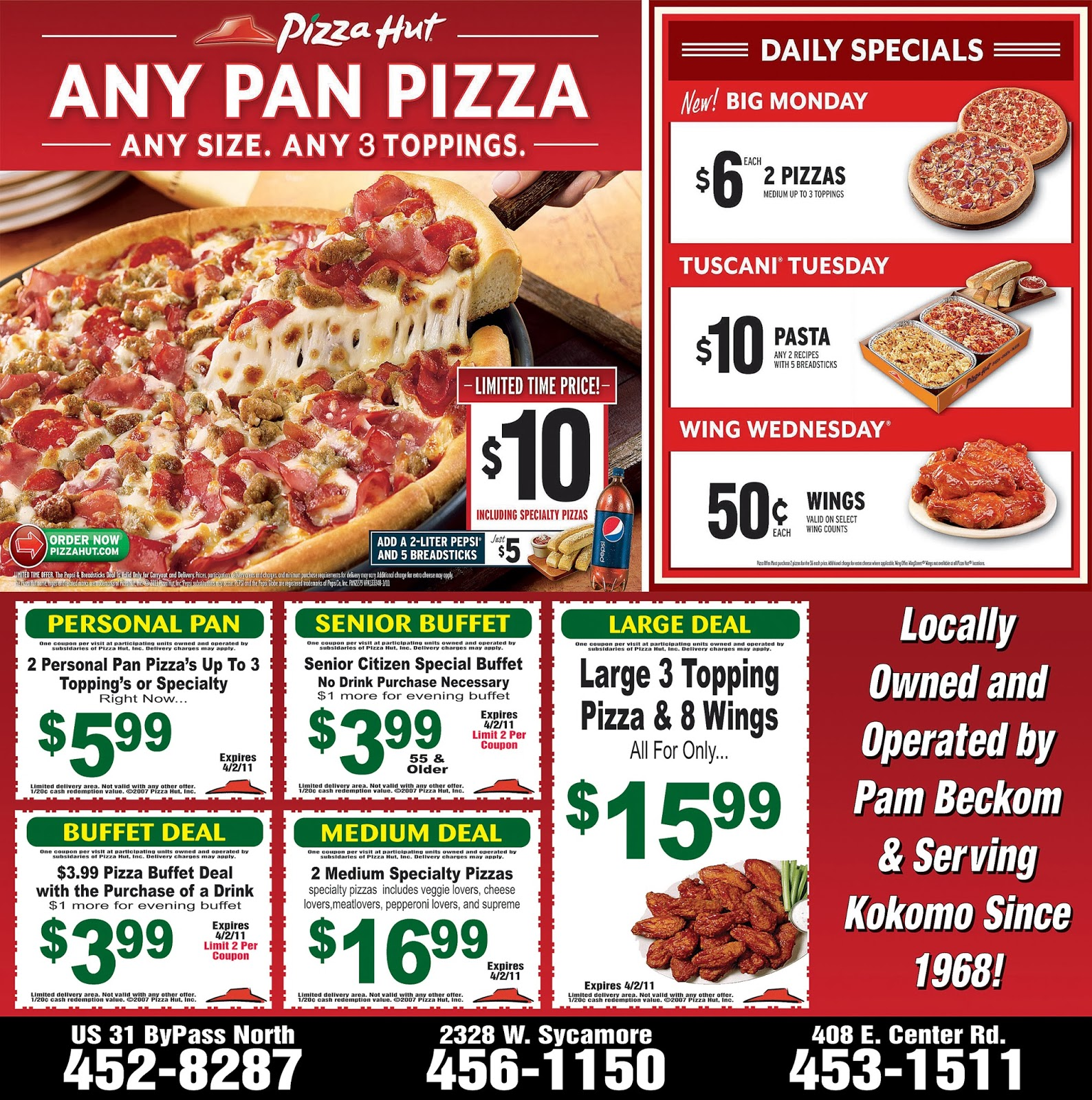 Pizza hut menu coupons codes