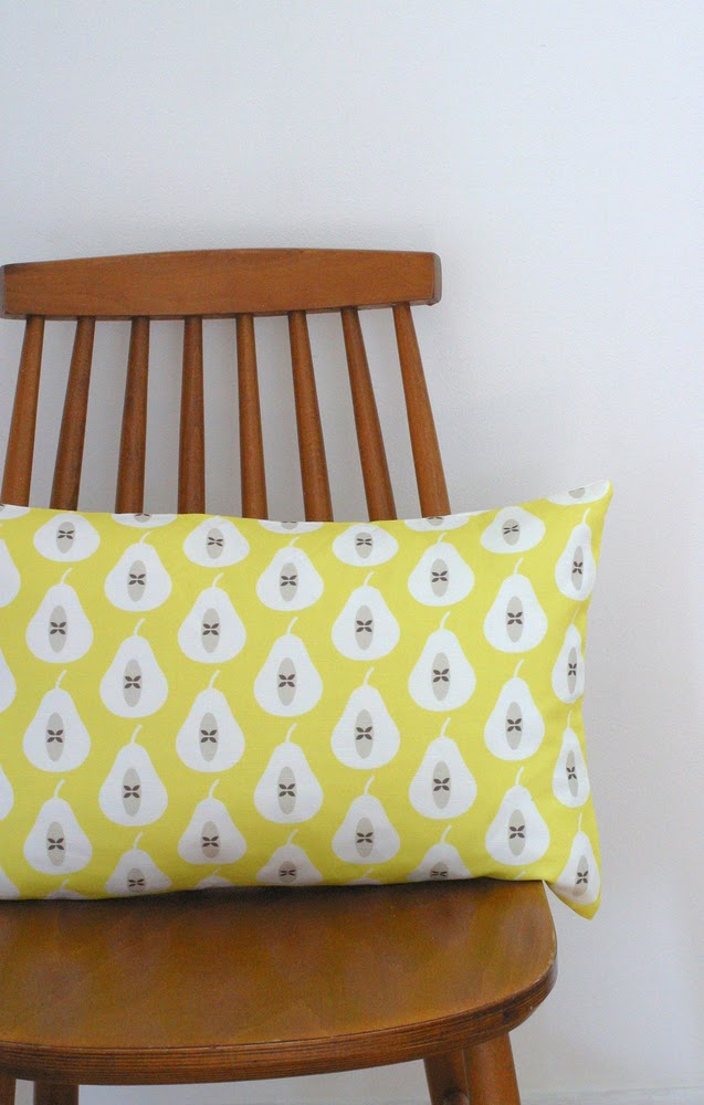 http://folksy.com/items/4434853-Yellow-Pear-Print-bolster-cushion-cover