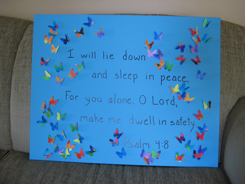 One Little Word She Knew: Butterfly Scripture Canvas