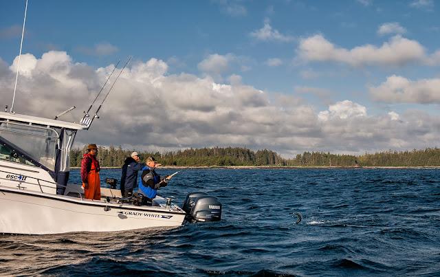 Salmon Fishing with Escott Sportfishing in Haida Gwaii