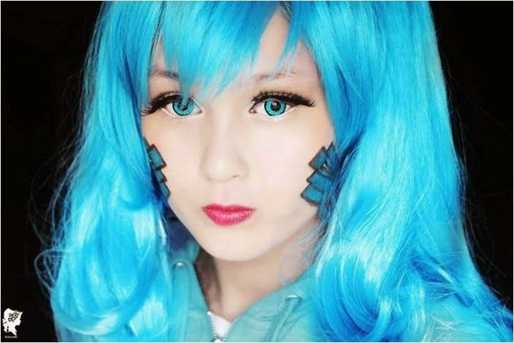 Ene from 'Kagerou Project Cosplay' with Enomoto Takane Wig & Twilight Blue Lenses