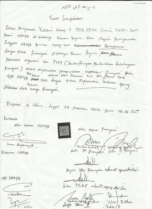 Menghianati Surat Kesepakatan Bermeterai; KPMJB Penipu!