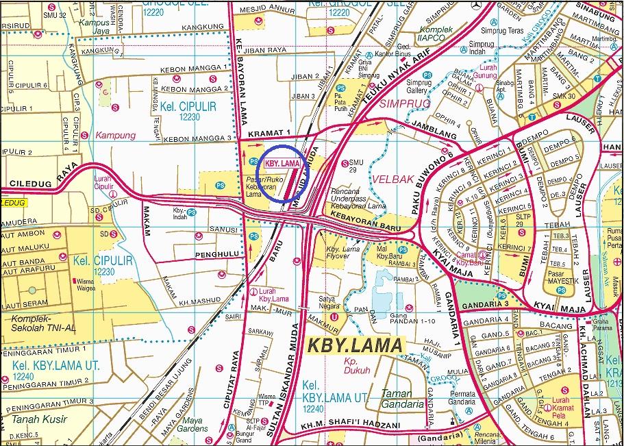 Peta Lokasi Stasiun kereta Api Kebayoran Lama