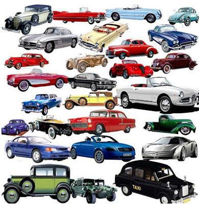Autos retro psd sin fondo (27 imágenes para diseñadores)