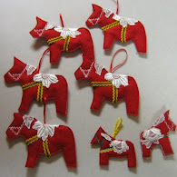 Tutorial !  Dala horse ornaments