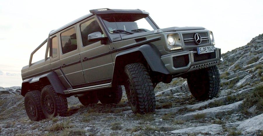 1台8000万円のメルセデスベンツG63 AMG 6×6で岩山を登る!