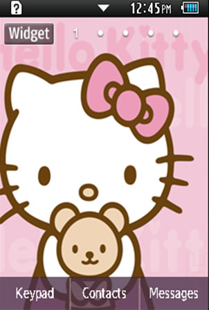 Anime Hello Kitty Samsung Corby 2 Theme 2 Wallpaper
