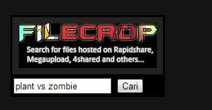 cara mencari file di filecrop