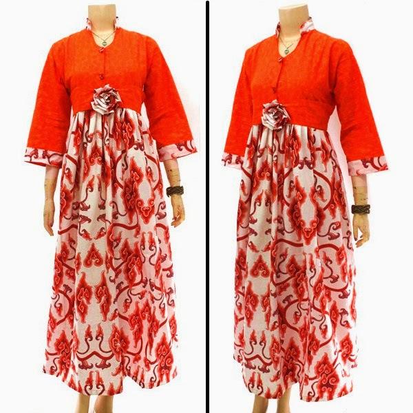 Busana Muslim Dress Gamis Katun Embos