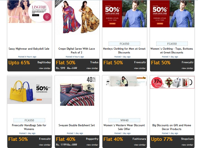 Myntra, THE place to be when it comes to the latest in fashion, offers you fine, high-quality merchandise – go ahead and indulge in a bit of shopping online for men, women and kids. You can even pick up gift sets for your near and dear ones while being absolutely certain that it will put a smile on their faces.