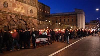 По центру столицы Швеции прошёл марш нацистов