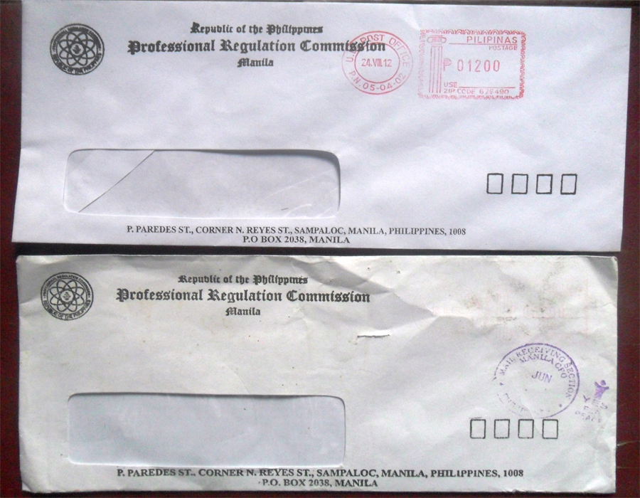 Philippine civil engineering review tips and guides how What side of envelope does stamp go on