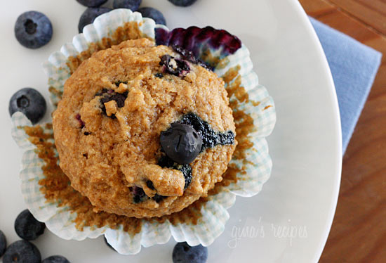 Whole Wheat Blueberry Muffins | Skinnytaste