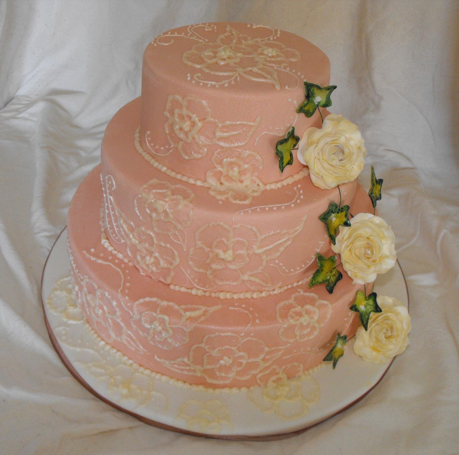 Carolines Cake Craft Vintage Style Wedding Cake