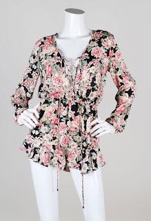 Olivaceous Lauren Floral Lace-Up Romper - $68 - www.swankboutiqueonline.com