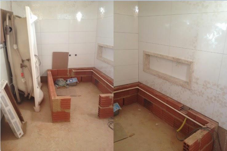 Capricho e Beleza Nossa Construção e Projeto em 3D de banheiro suíte com ban -> Um Banheiro Com Banheira