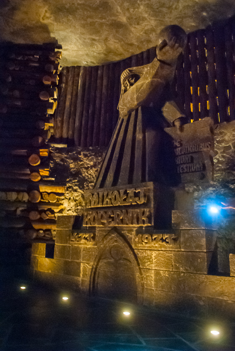 Salt structure in the  Wieliczka Salt Mine in Poland