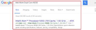 mencari informasi processor dari google