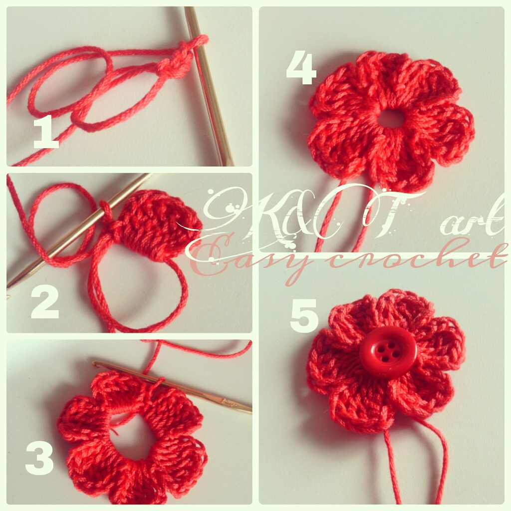 Make Crochet Flower Pattern :