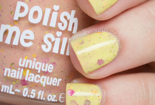 Polish Me Silly Sizzling Sunset swatch // The Nailasaurus
