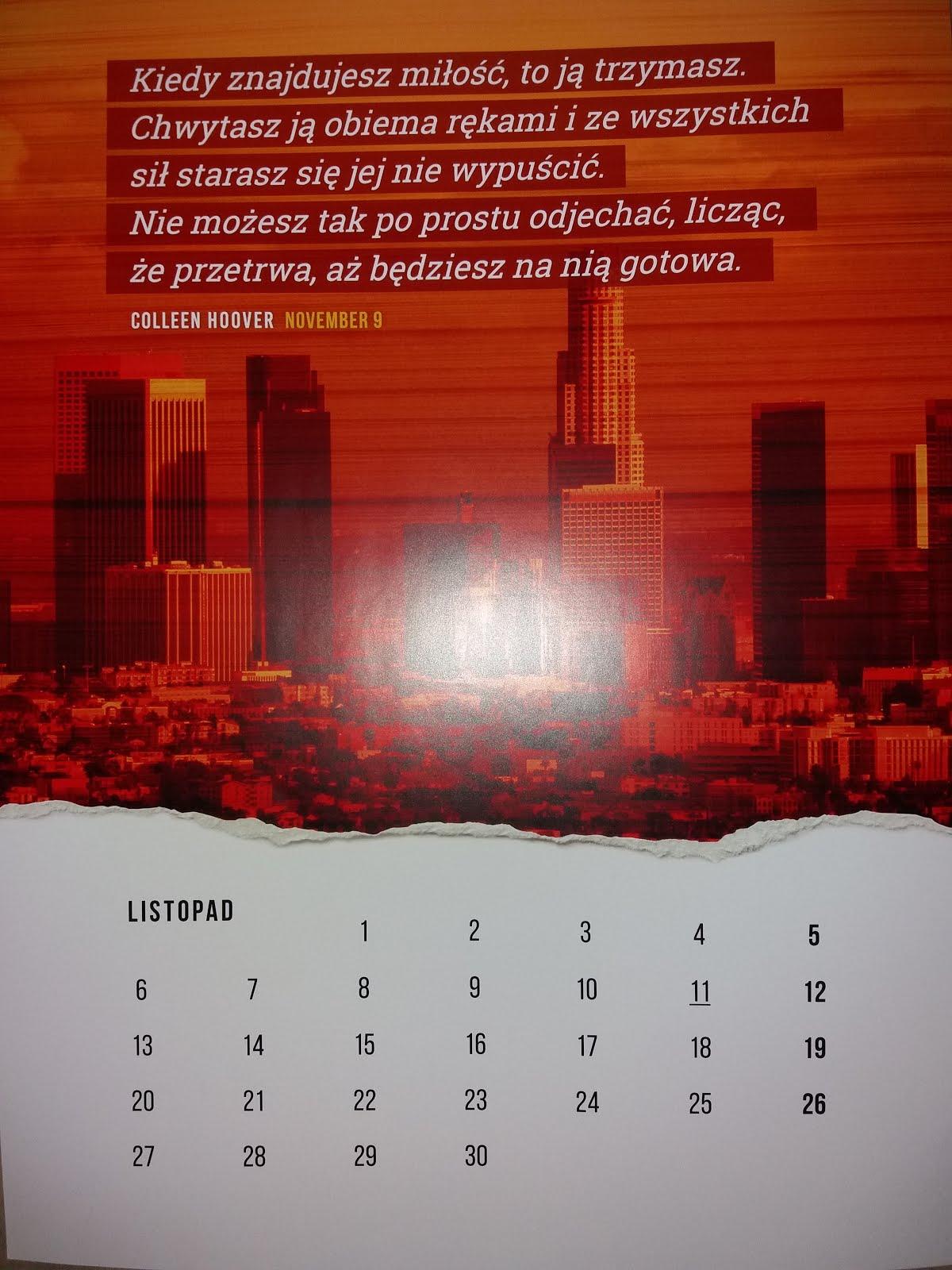Kartka z kalendarza - listopad