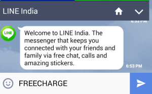 freecharge line recharge offer