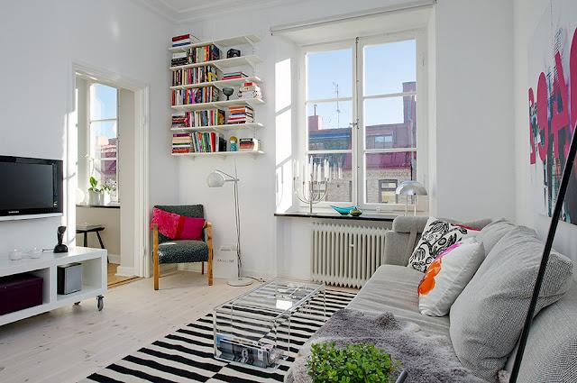 Boho deco chic un piso peque o moderno y con color - Mesas centro metacrilato ...