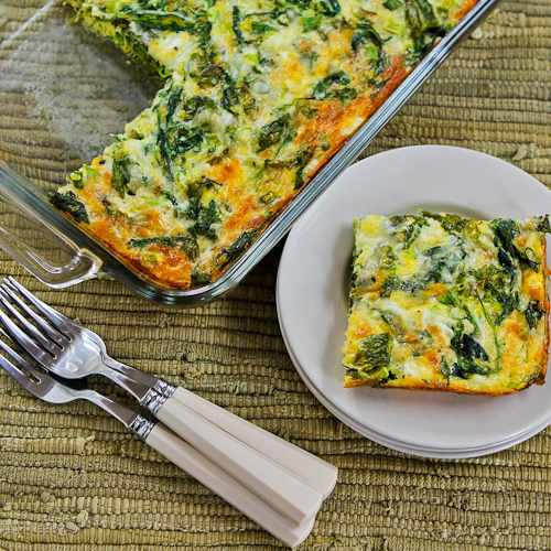 Baby Kale, Mozzarella, and Egg Bake