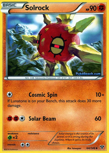 Solrock -- Pokemon X and Y Card Review | PrimetimePokemon ...