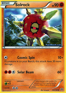 Solrock Pokemon X and Y Card