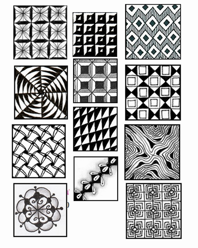 Declarative image intended for printable zentangle patterns