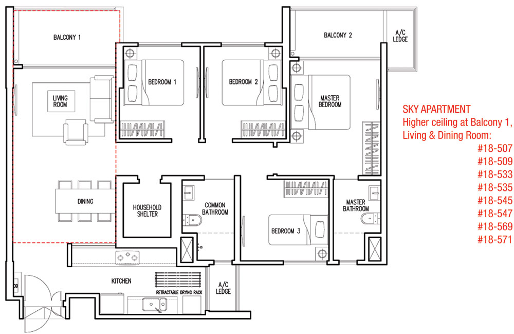 Parkland Residences DBSS Floor Plan