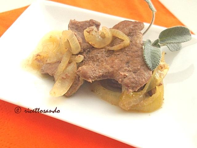 Fegato alla veneta ricetta a base di cipolle