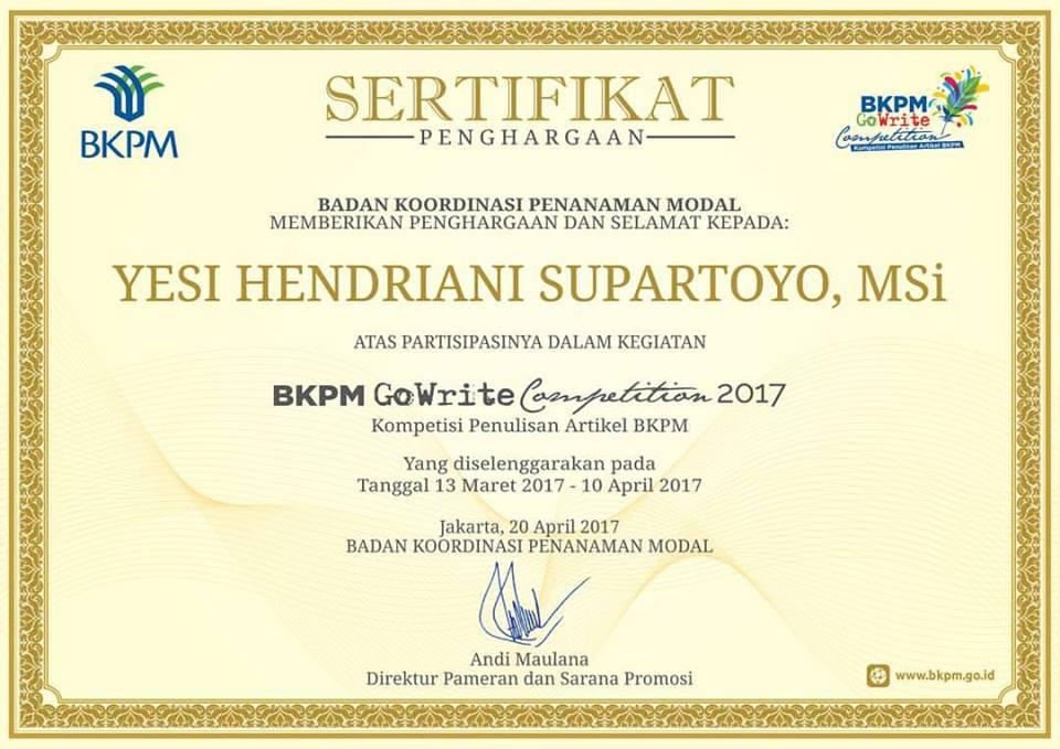 Badan Koordinasi Penanaman Modal (BKPM)